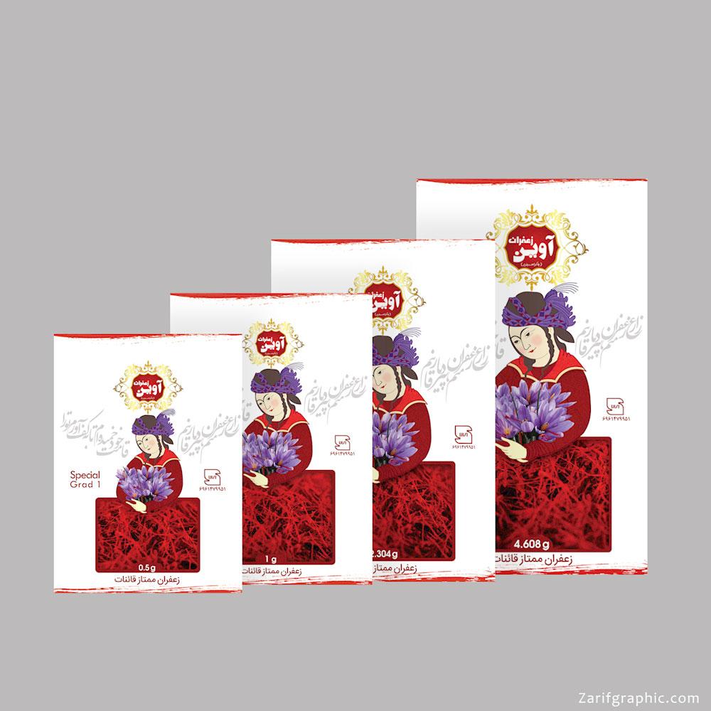 طراحی خلاقانه بسته بندی زعفران