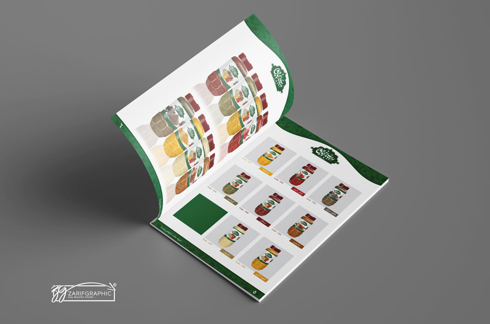 طراحی کاتالوگ ادویه جات باغچاچی در ظریف گرافیک