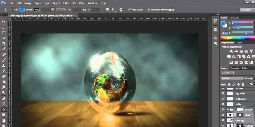 طراحی گرافیک فتوشاپ