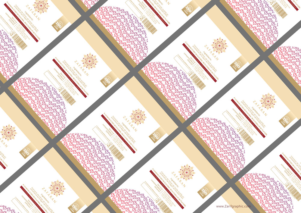 saffron packaging design_france