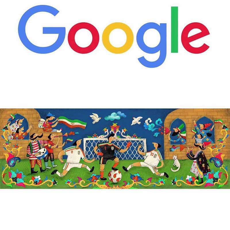 طراحی لوگو گوگل جام جهانی 2018