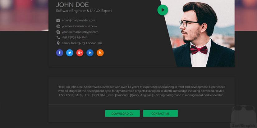 طراحی سایت شخصی خلاقانه