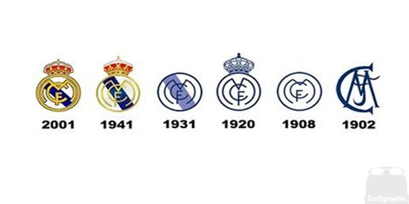 طراحی لوگو رئال مادرید