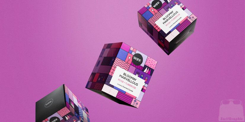 رنگ بنفش در طراحی بسته بندی