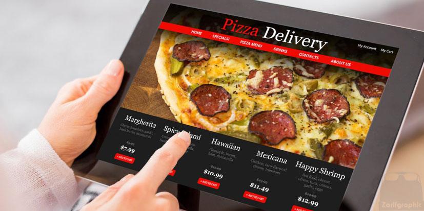 طراحی سایت رستوران ظریف گرافیک