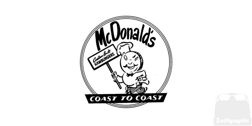 اولین طراحیلوگو مک دونالد