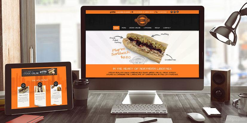 طراحی سایت رستوران واکنش گرا