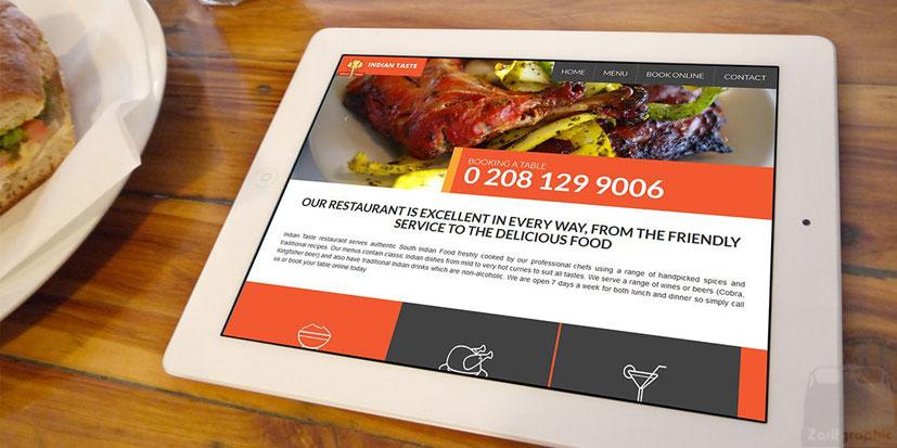 طراحی سایت رستوران تخصصی