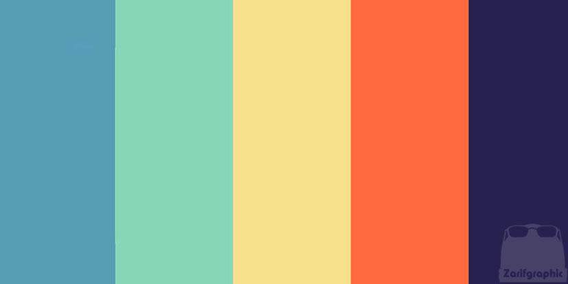 کد رنگ در طراحی سایت