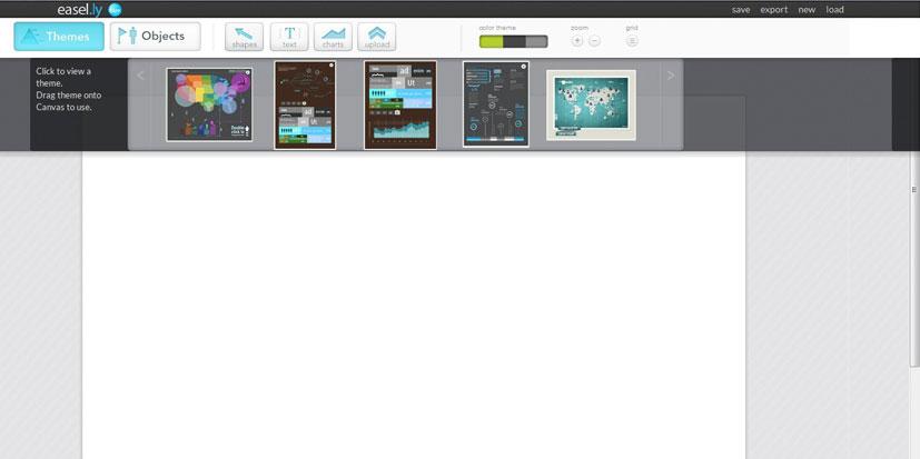 نرم افزار طراحی گرافیک easel.ly