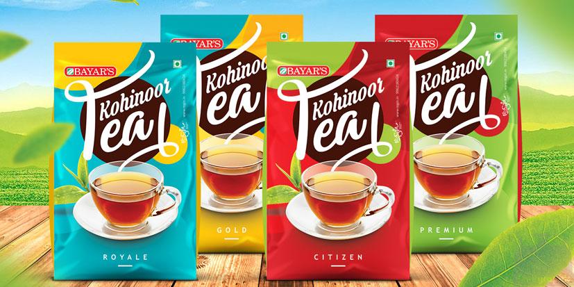طراحی بسته بندی چای ظریف گرافیک