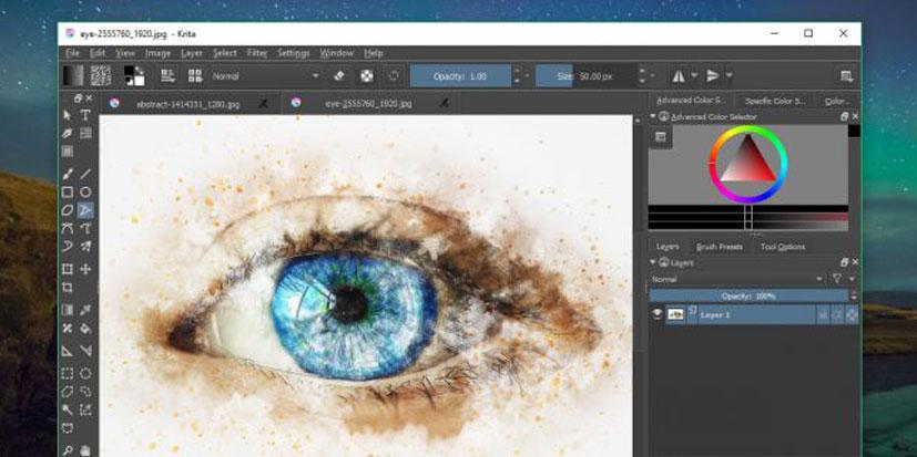 نرم افزار طراحی گرافیک krita