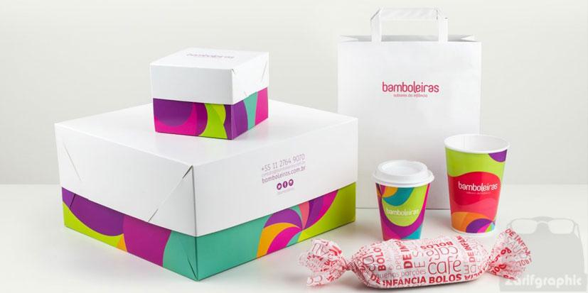 طراحی بسته بندی رنگی